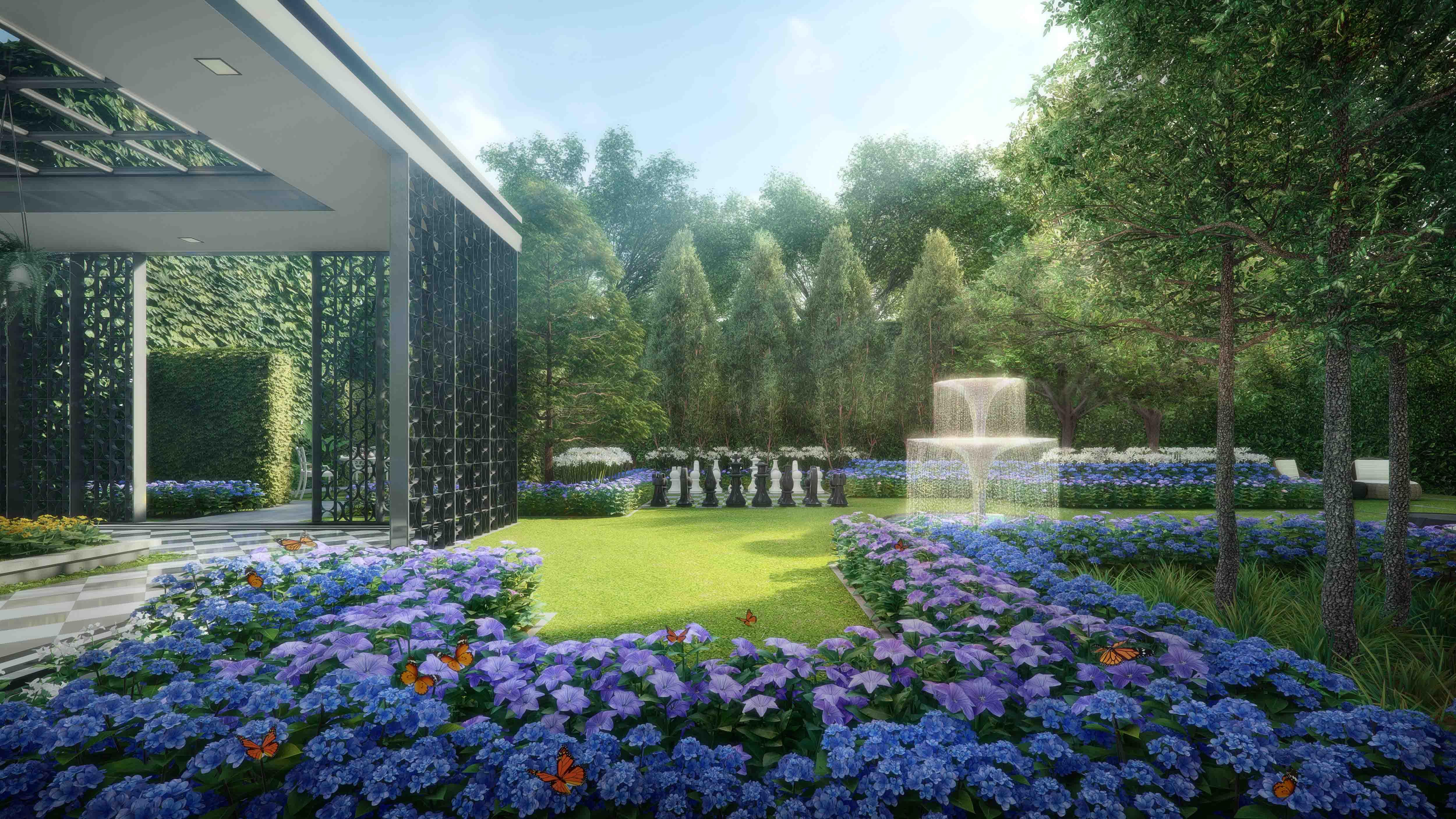park-colonial-flower-garden
